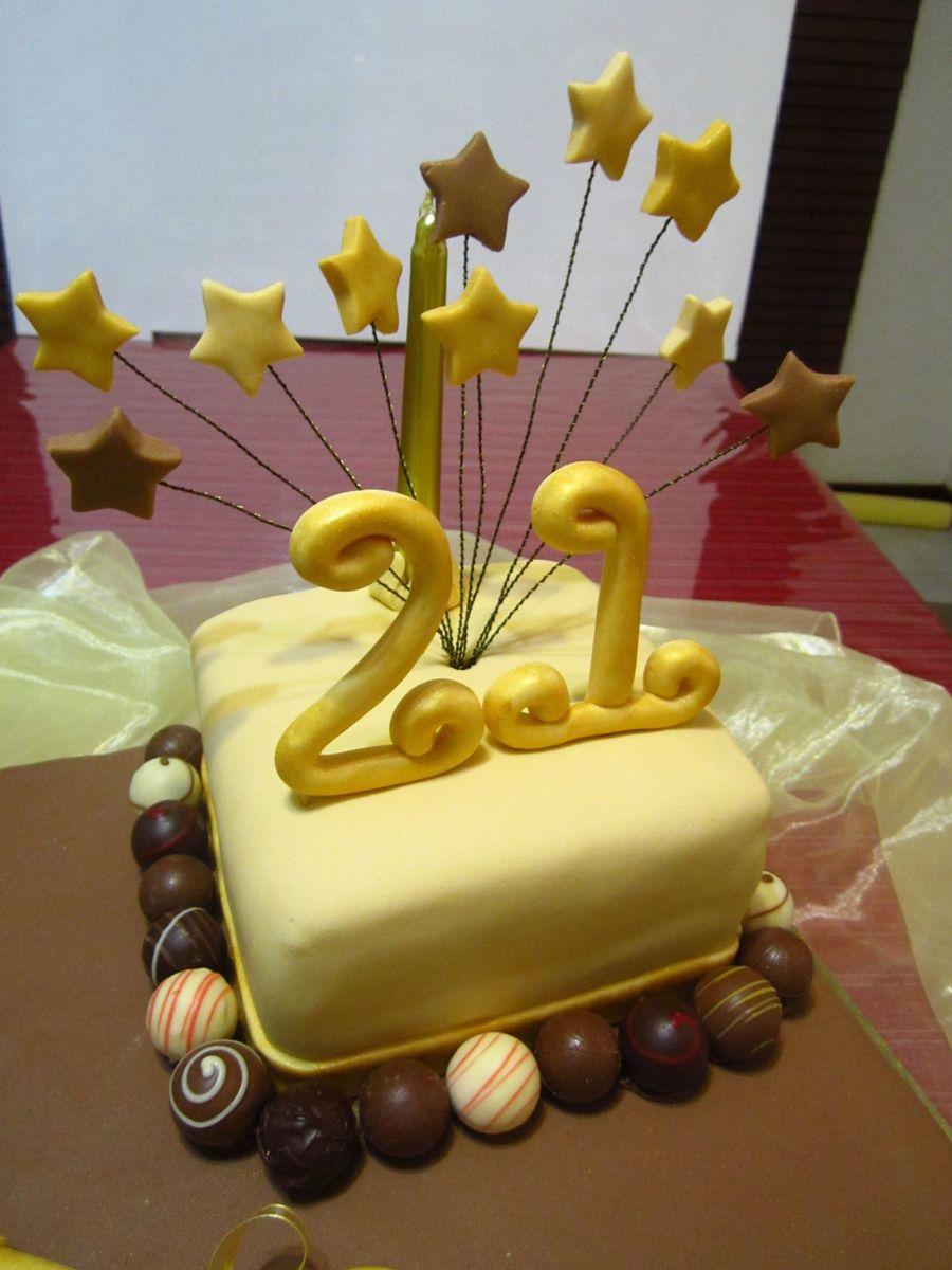 Decoration Of Chocolate Truffle Cake : Chocolate Truffle 21St Cake - CakeCentral.com