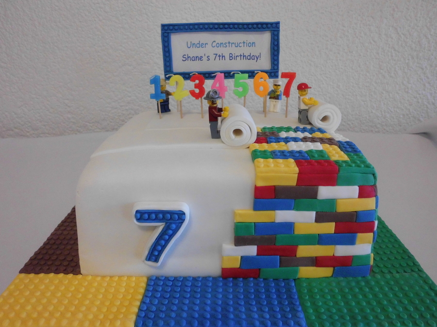 Lego Construction Cake Tutorial