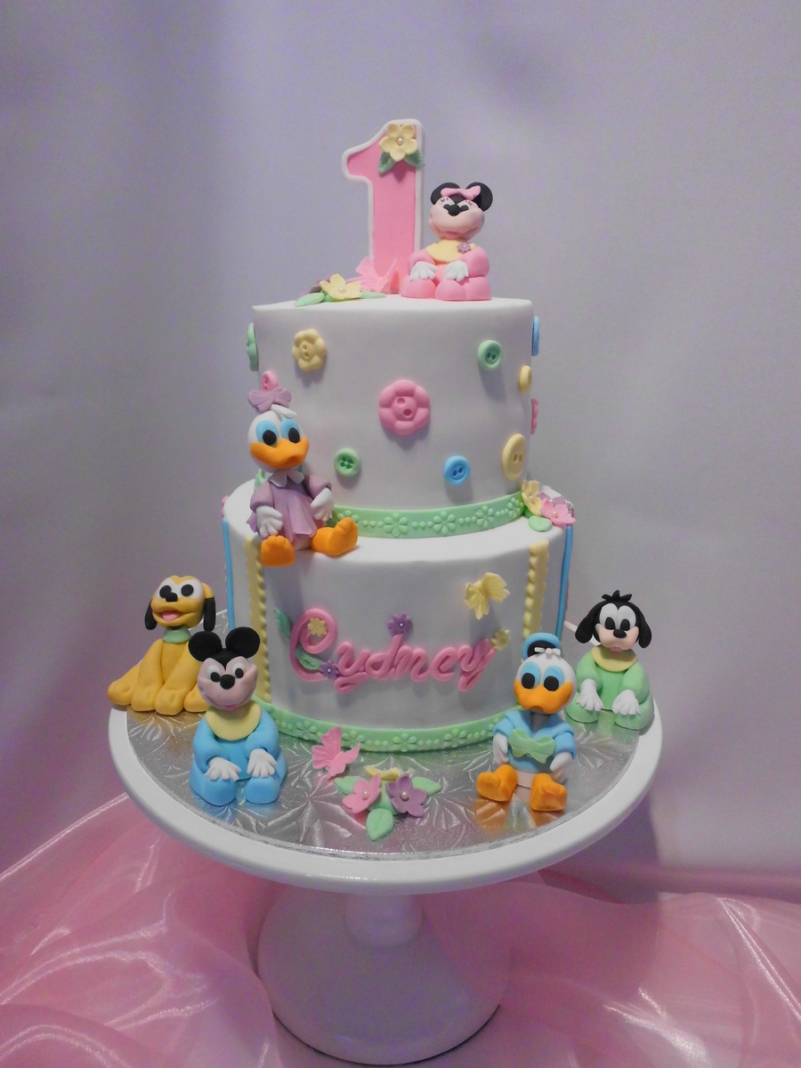 Disney Babies First Birthday Cake CakeCentralcom