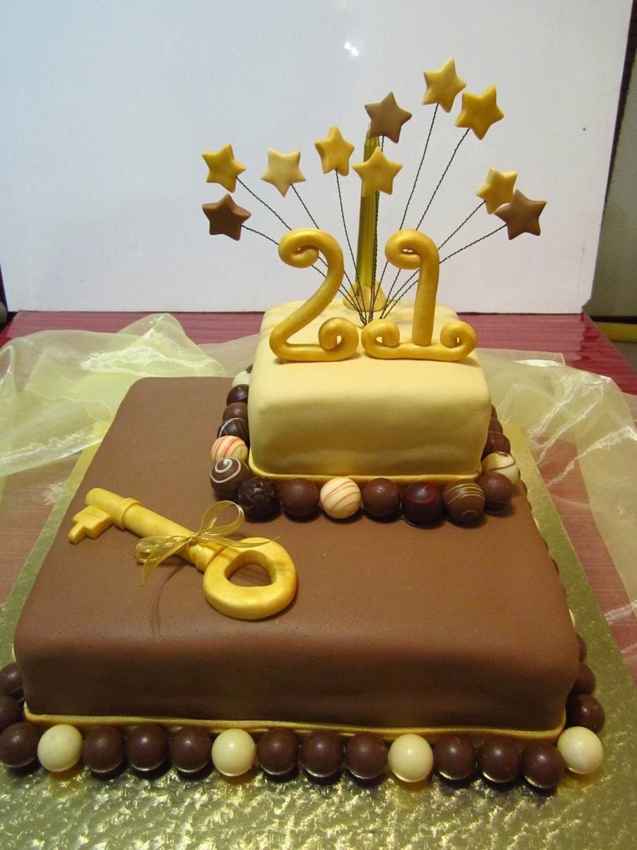 Chocolate Truffle Cake Decoration Ideas : Chocolate Truffle 21St Cake - CakeCentral.com