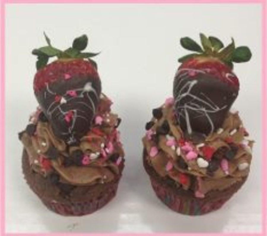 Strawberry Chocolate Cupcake on Cake Central