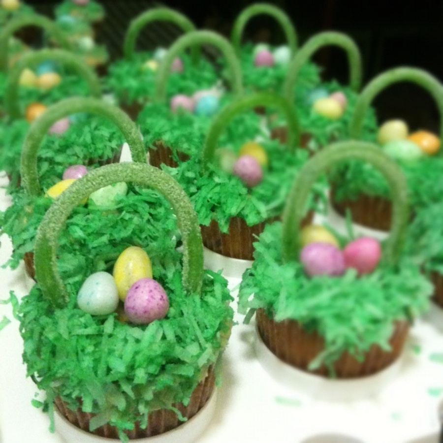Easter Basket Cupcakes on Cake Central