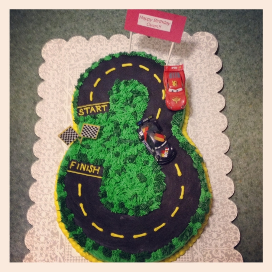 Race Track Cake For 3 Year Old on Cake Central