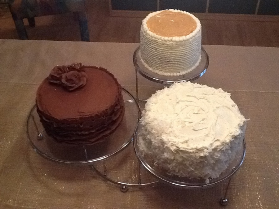 Trio Of Birthday Cakes on Cake Central