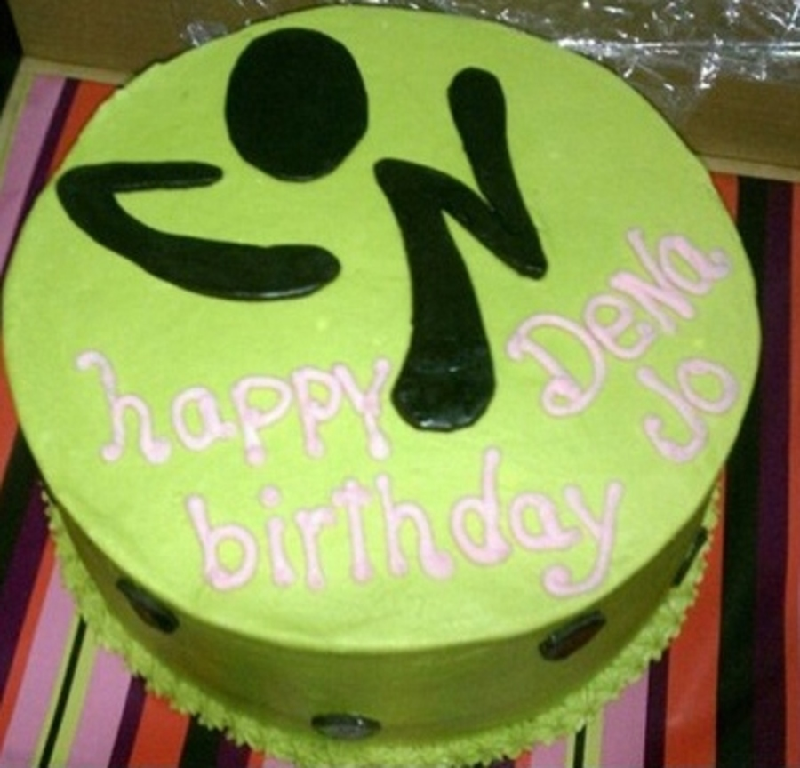Zumba Instructor B-Day  on Cake Central