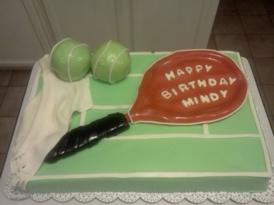 Tennis Birthday on Cake Central