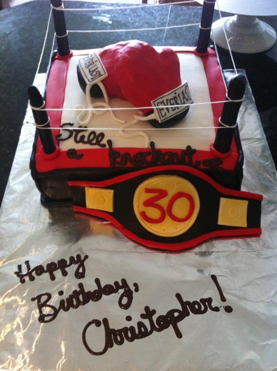 Boxing Ring Glove Cake Cakecentral Com