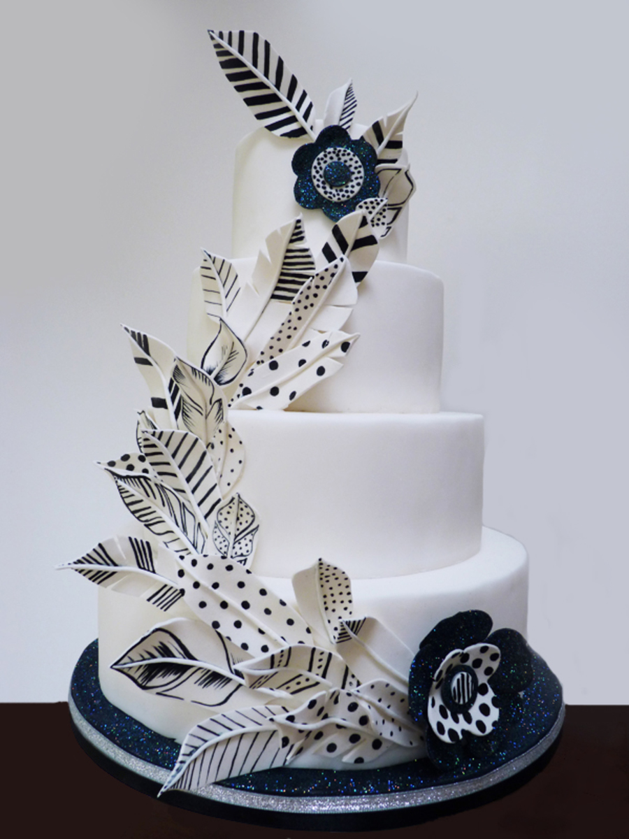 Painted Feather Cake on Cake Central