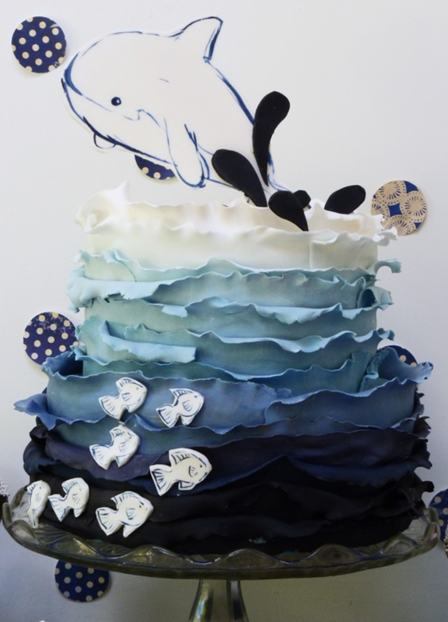 An Underwater Themed Cake For My Littlest Kidlets Party on Cake Central