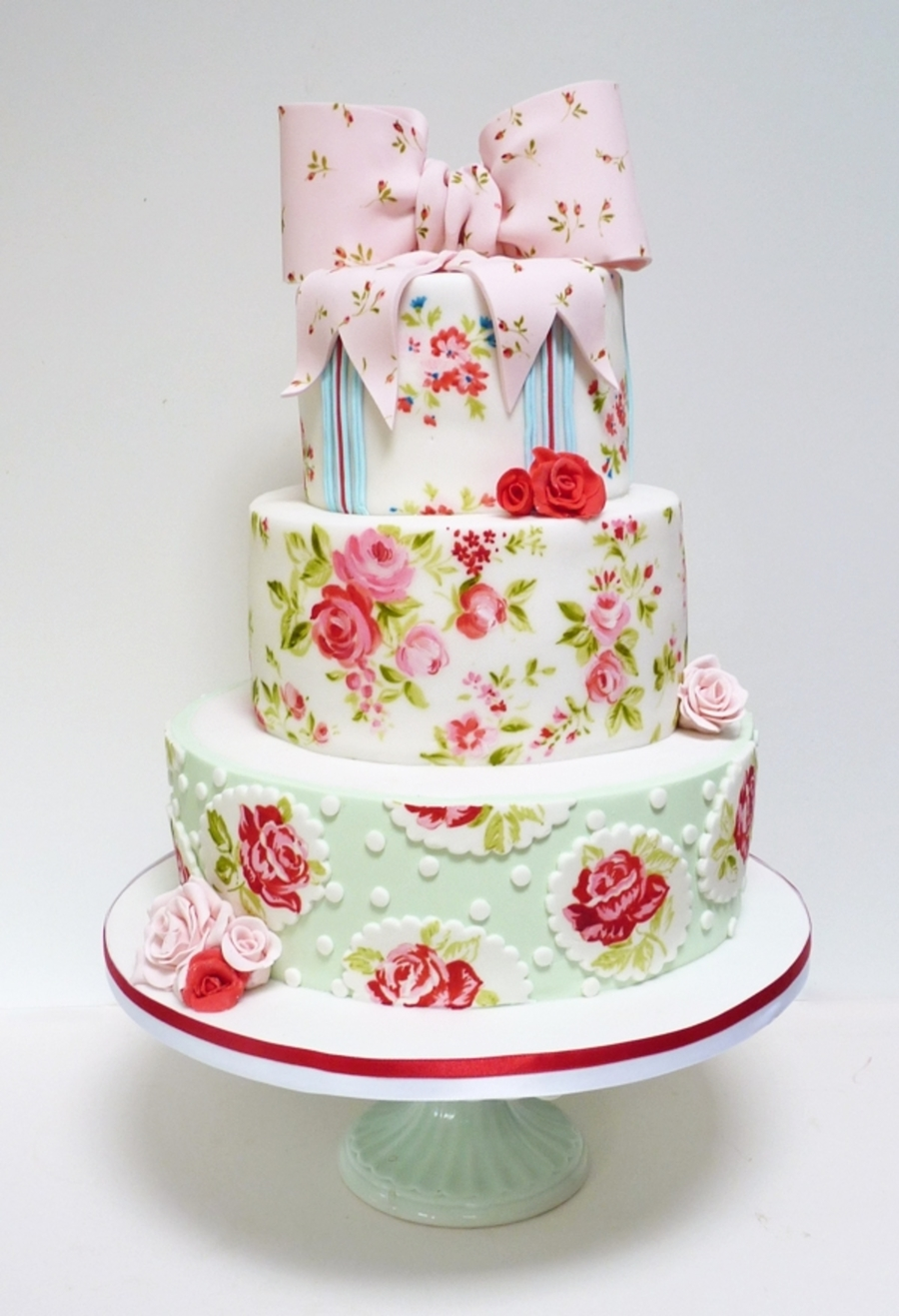 Great Shabby Chic Wedding Cake On Cake Central