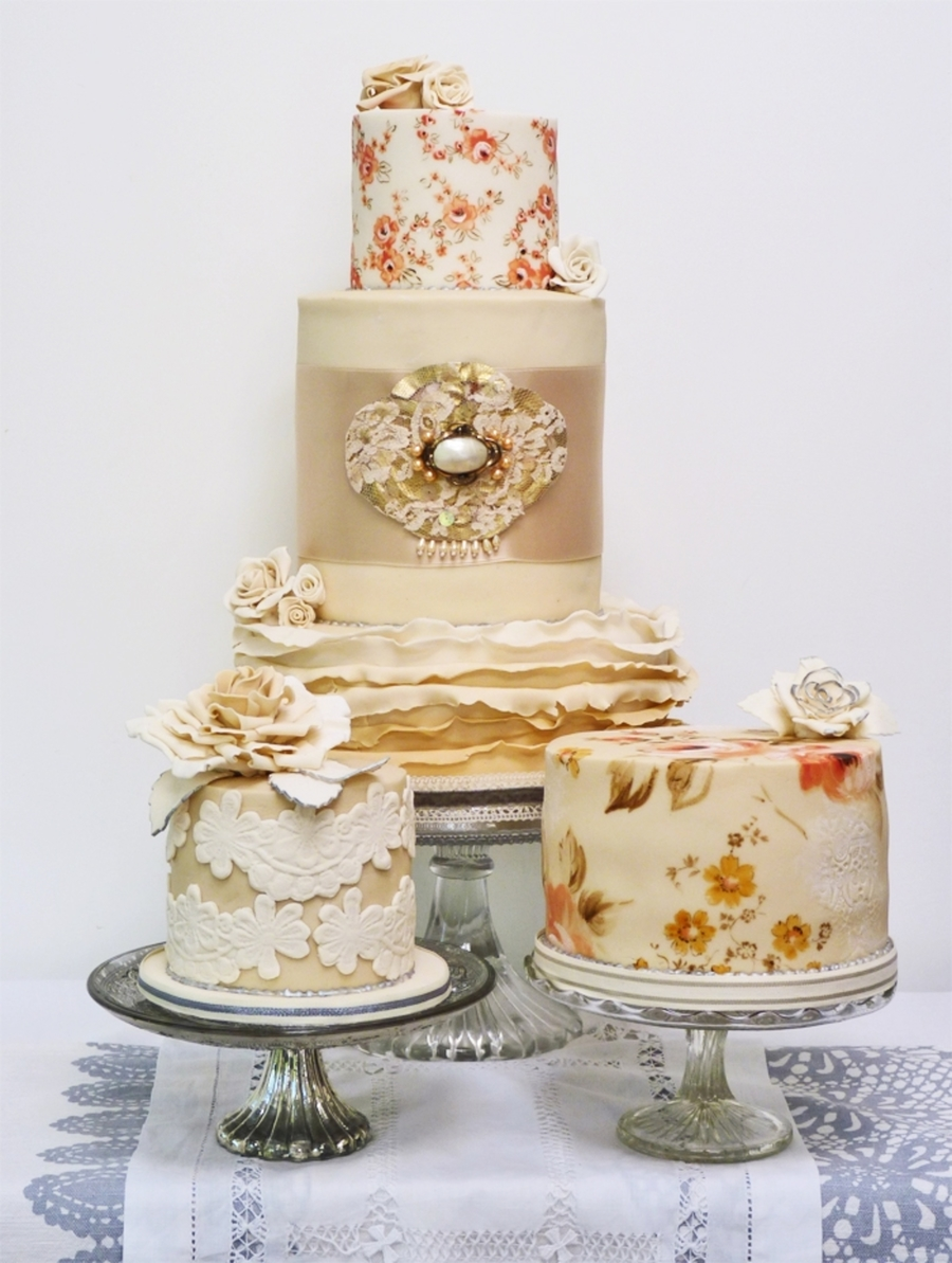 Vintage Lace Cakes on Cake Central