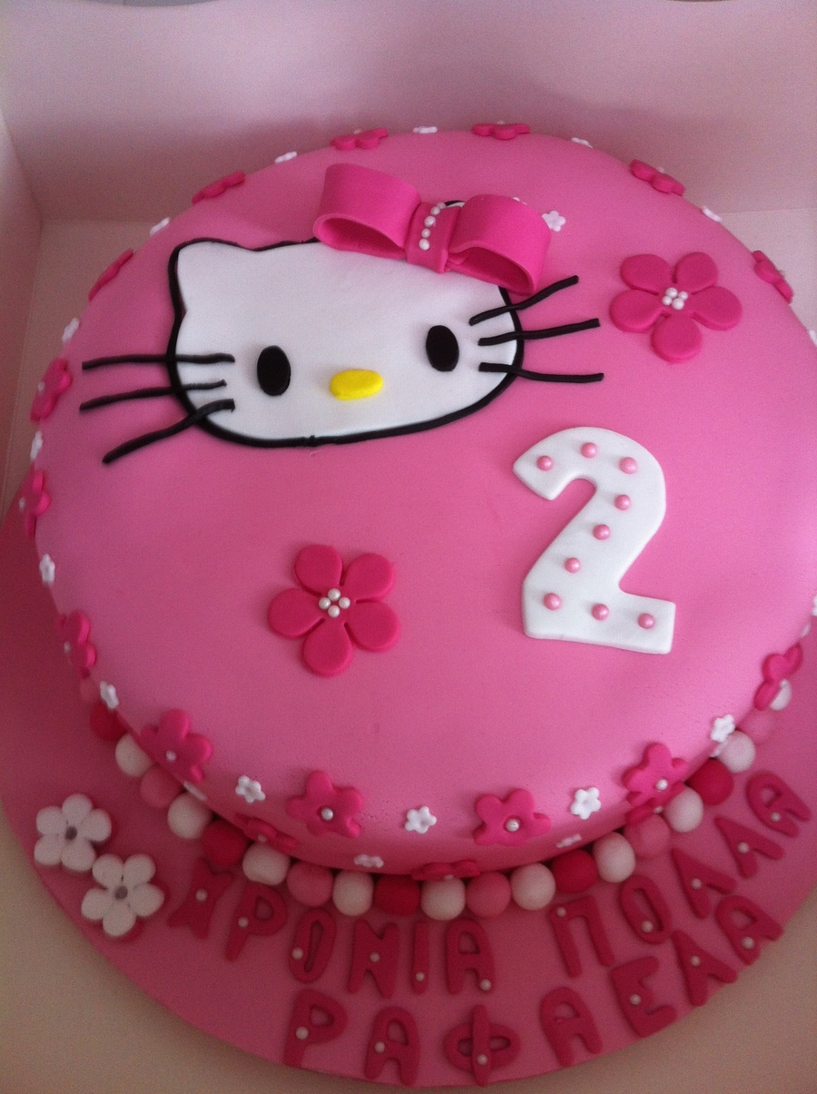 A Hello Kitty Cake For A Chic Young Lady on Cake Central