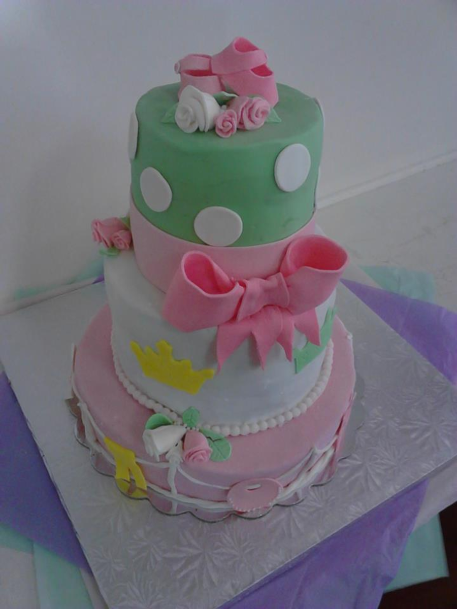 My First Tiered Cake I Know Its Not Perfect But I Am Very Proud Of Myself  on Cake Central