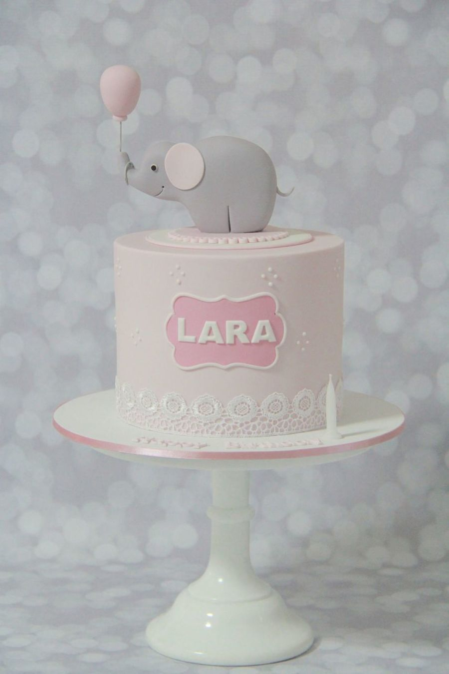Elephant Themed First Birthday Cake Cakecentral Com
