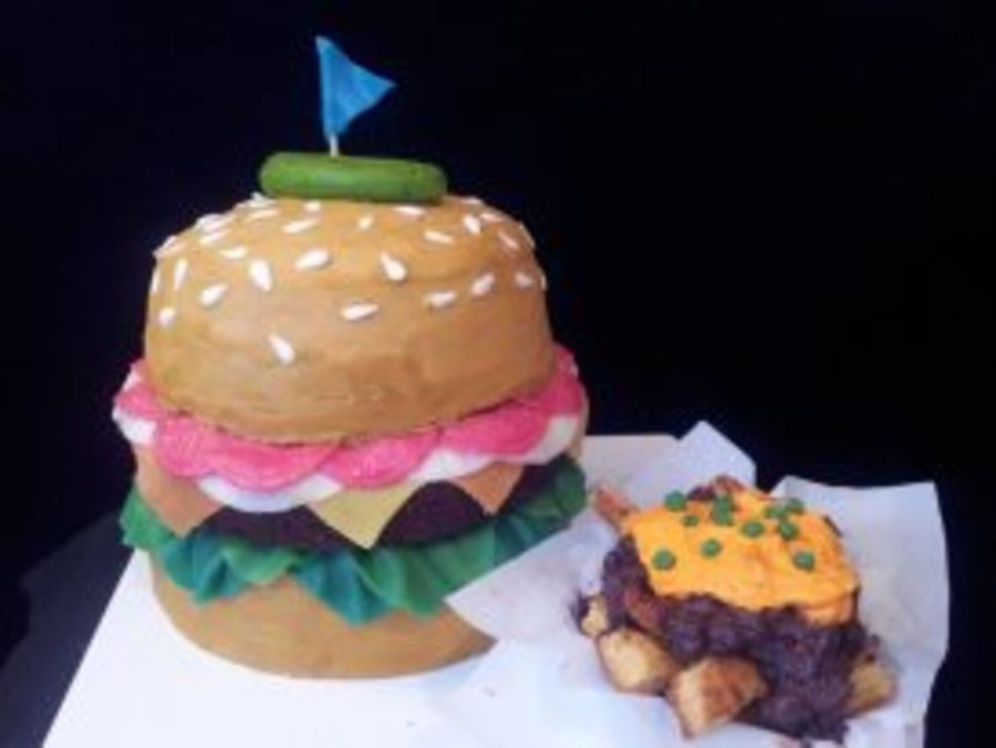 Burger And Chili Cheese Fries Birthday Cake Cakecentral