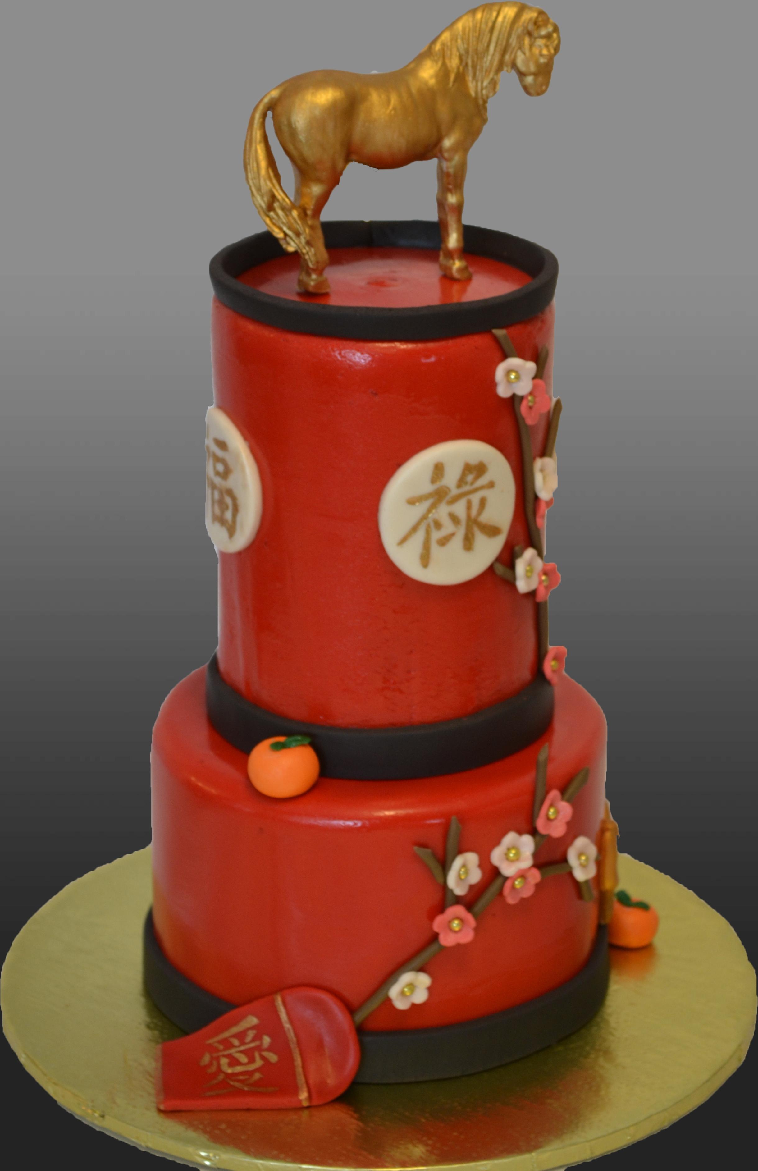 Chinese New Year Themed Cake 40th Birthday Cake