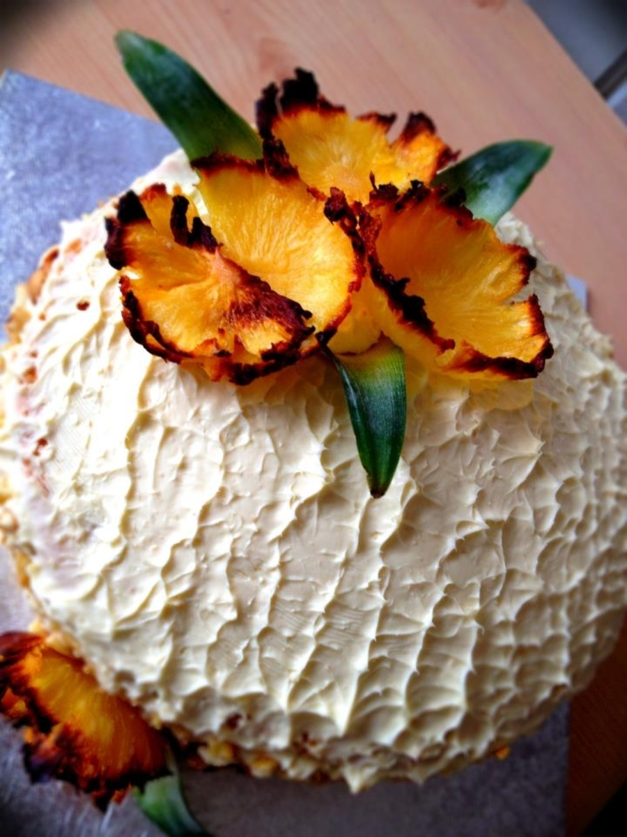 Fresh Pineapple Gateau on Cake Central