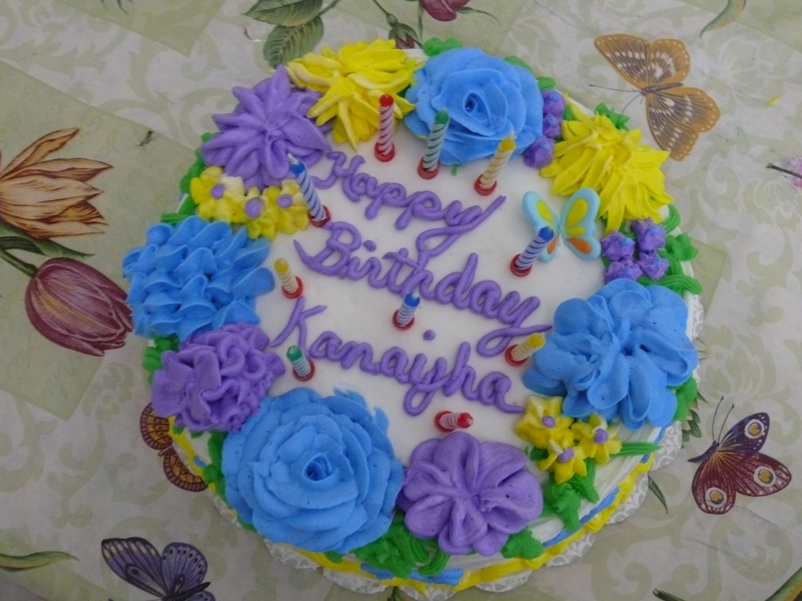 Birthday Floral Cake on Cake Central