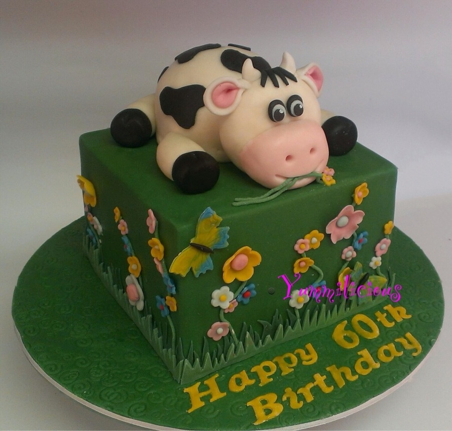 Cute Little Cow on Cake Central