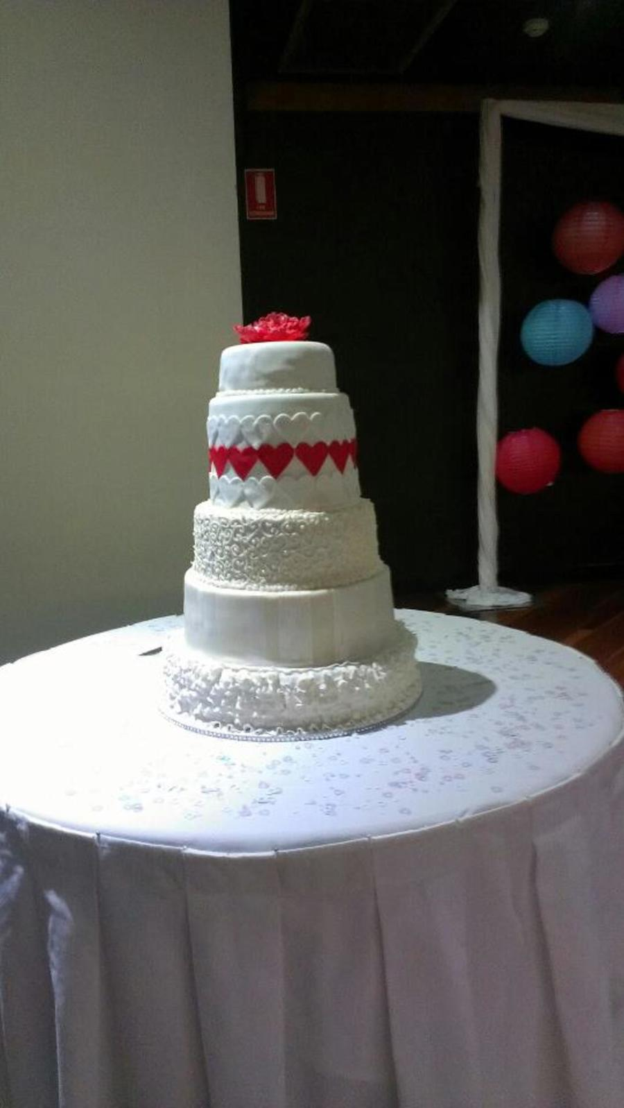 My Wedding Cake on Cake Central