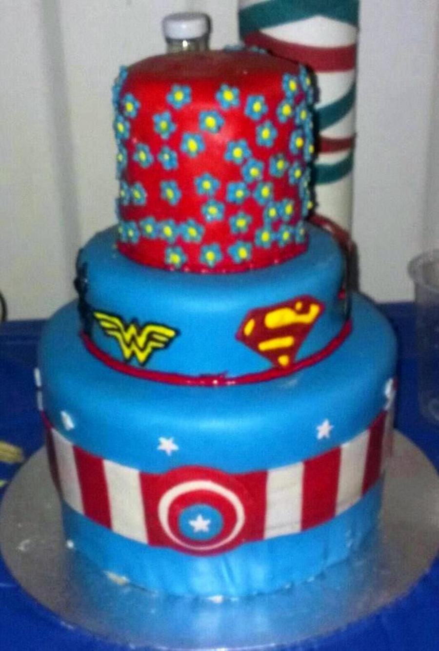 Miraculous Superhero Cake For A Girl Cakecentral Com Funny Birthday Cards Online Aeocydamsfinfo
