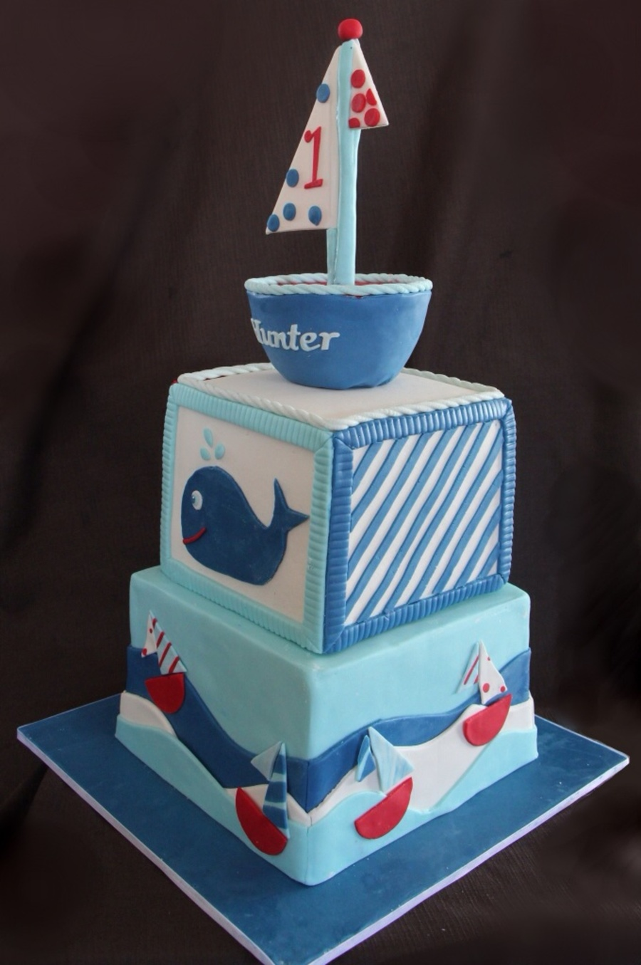Sail Boat First Birthday Cake Cakecentral Com