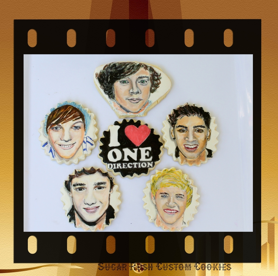 One Direction Band Member Cookies on Cake Central