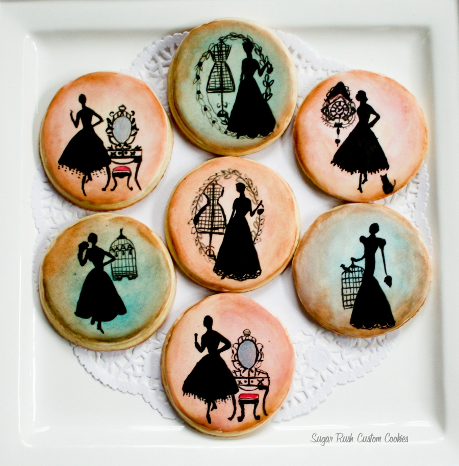 Silhouette Cookies on Cake Central
