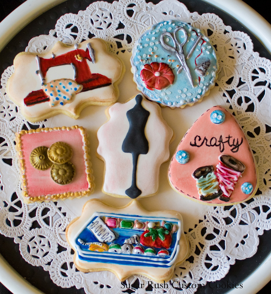Sewing Themed Cookies on Cake Central