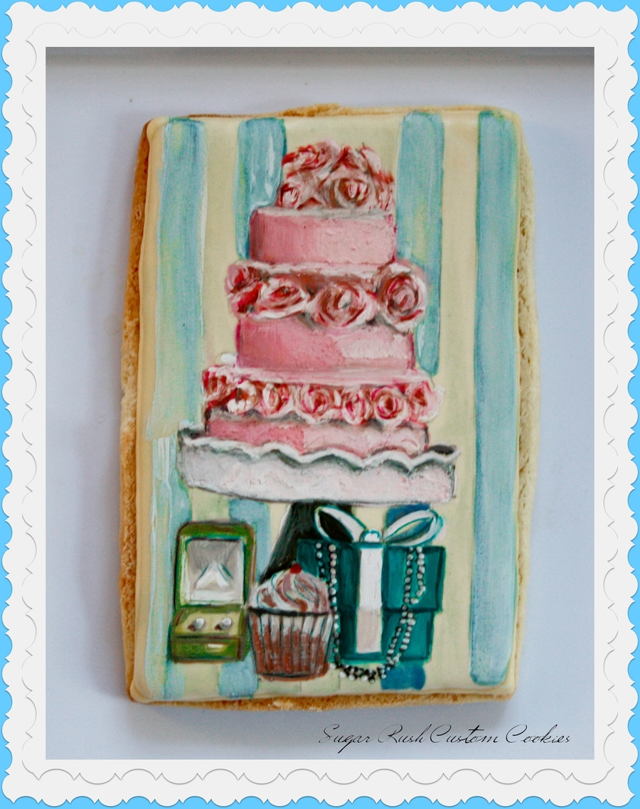 Cake Stand Themed Cookie on Cake Central