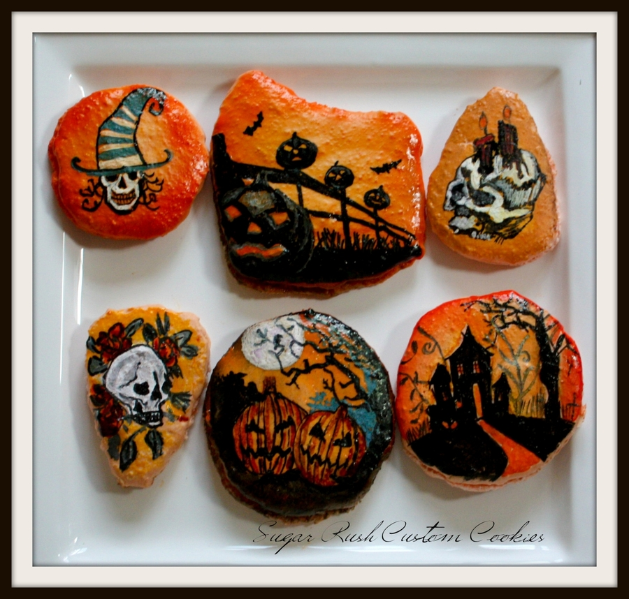 Halloween Themed Macarons  on Cake Central