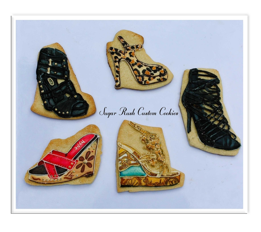 Designer Shoe Cookies on Cake Central