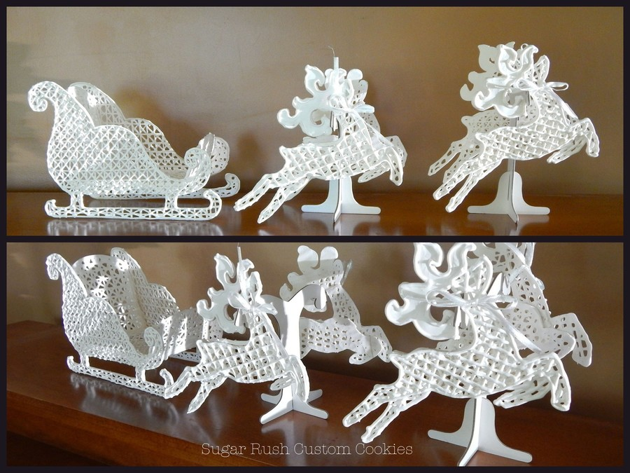 Easy Cake Icing Patterns: Royal Icing Sleigh And Reindeer