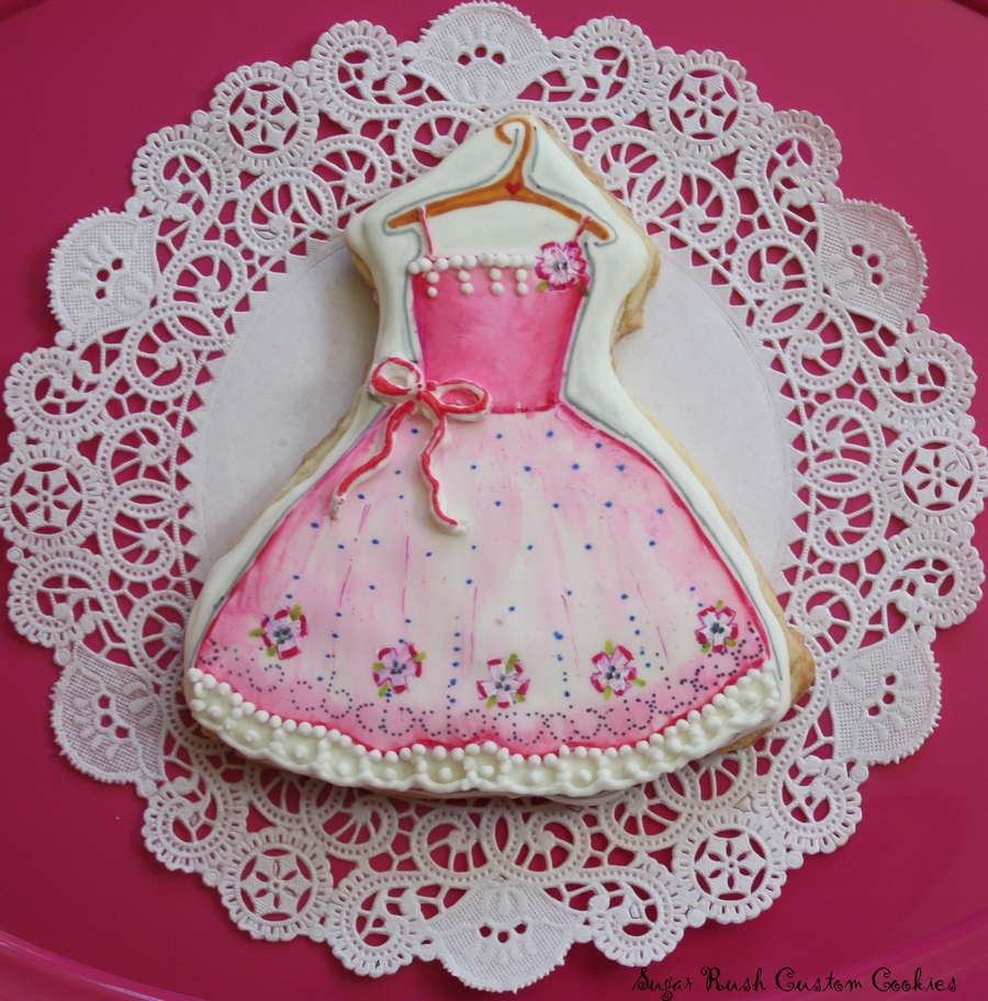 Princess Dress Cookie on Cake Central