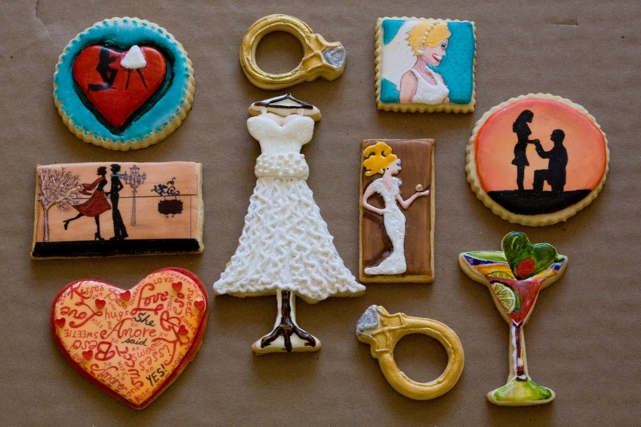 Engagement Wedding Cookie Platter on Cake Central