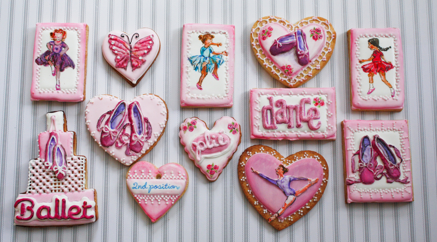 Ballet Themed Cookies on Cake Central