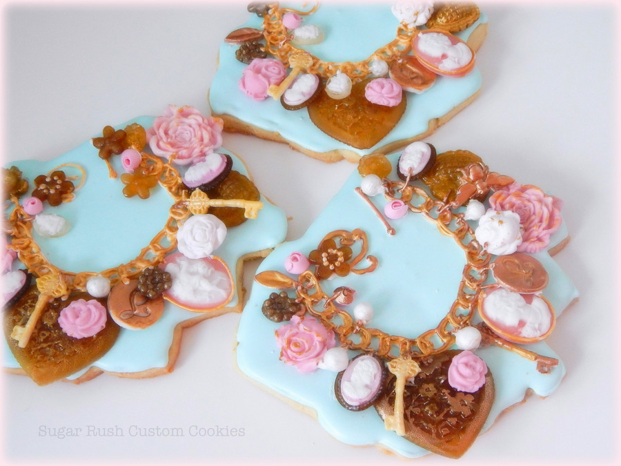 Charm Bracelet Chocolatecandy Cookies For My Little Girls Who Are Too Young For Real Jewelry  on Cake Central