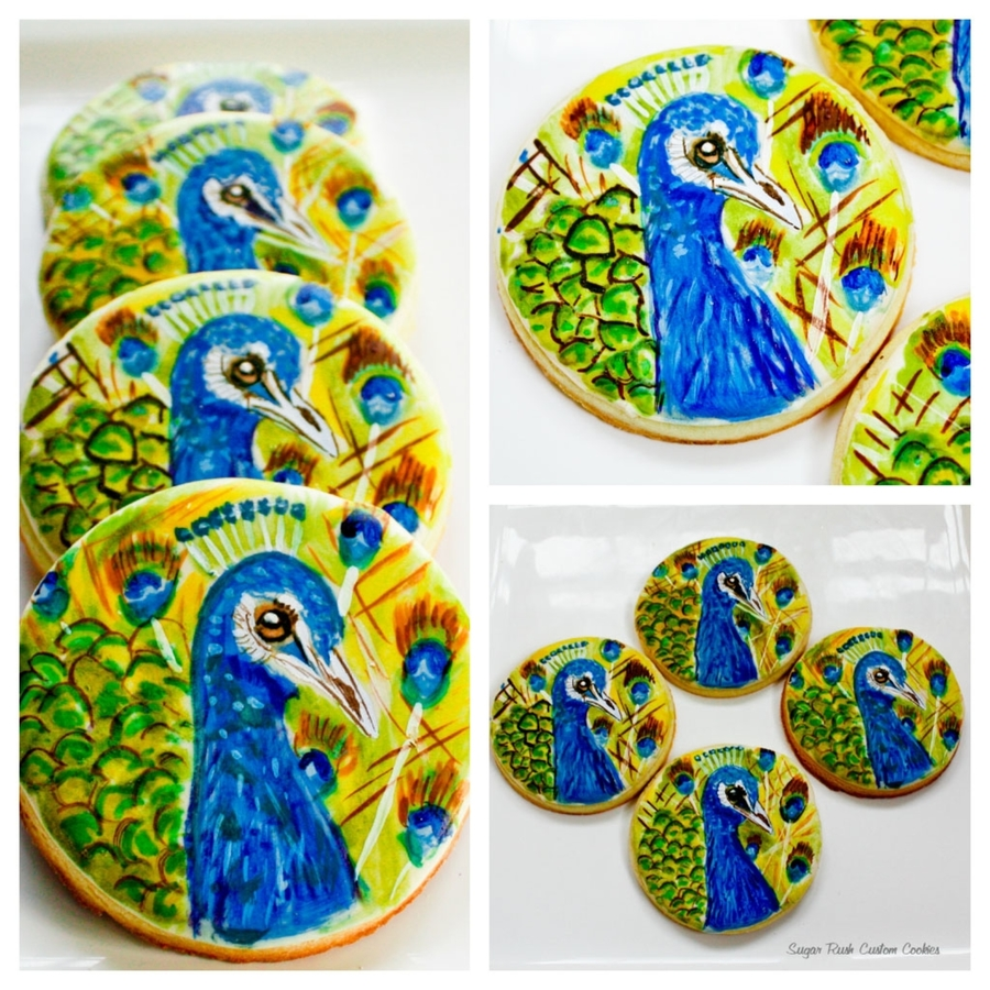 Peacock Cookies on Cake Central
