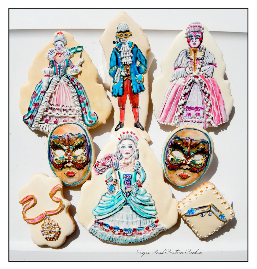 Masquerade Ball Cookies on Cake Central