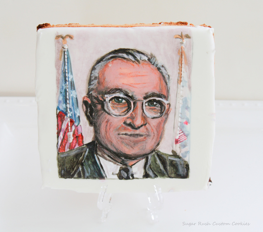 Presidents Day Harry S Truman Cookie on Cake Central