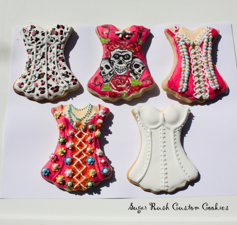Corset Royal Icing Cookies on Cake Central