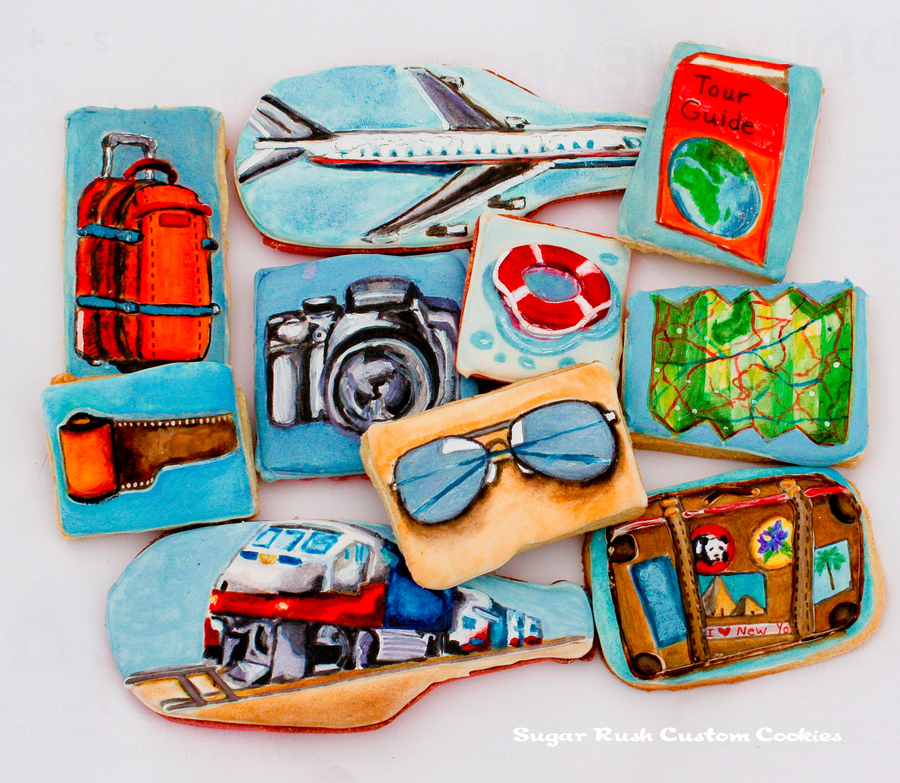 Travel Themed Cookies Featured In The Second Issue Of Cake From The Australian Cake Decorating Network on Cake Central