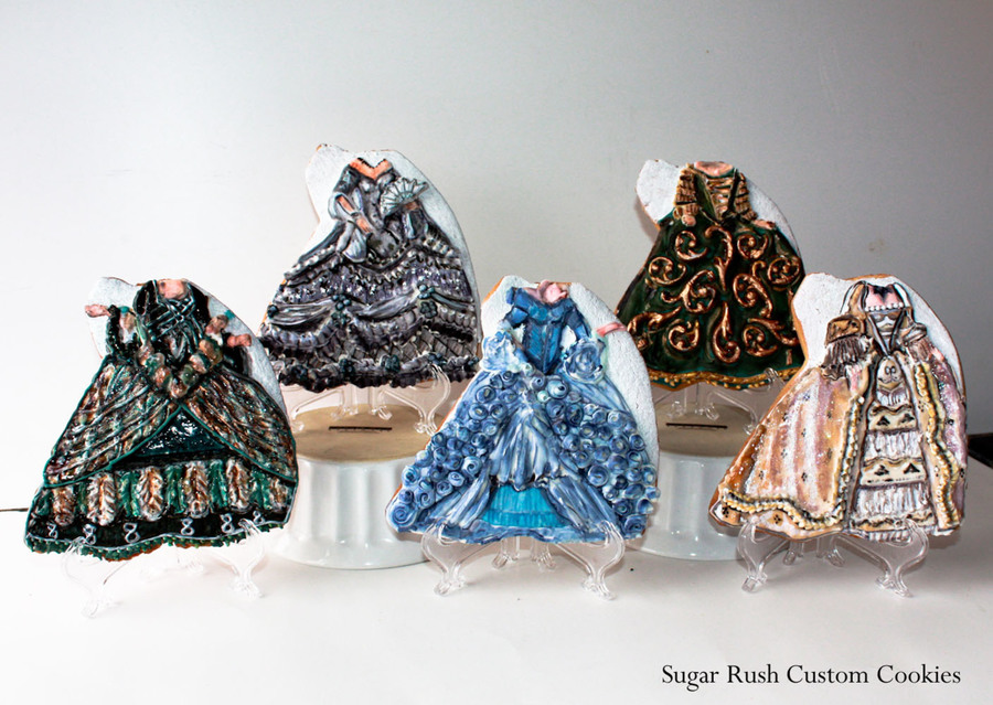 Vintage Ball Gowns on Cake Central