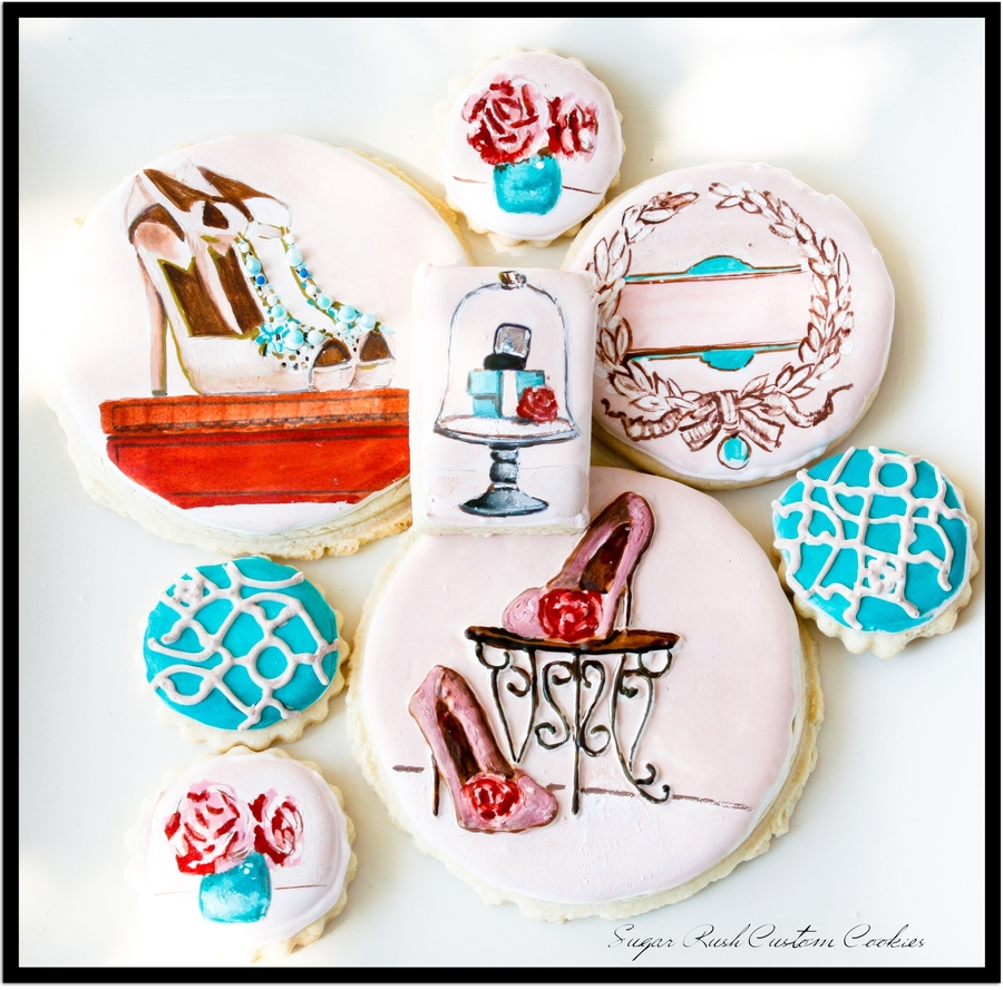 Fashion Shoe Boutique Cookies  on Cake Central