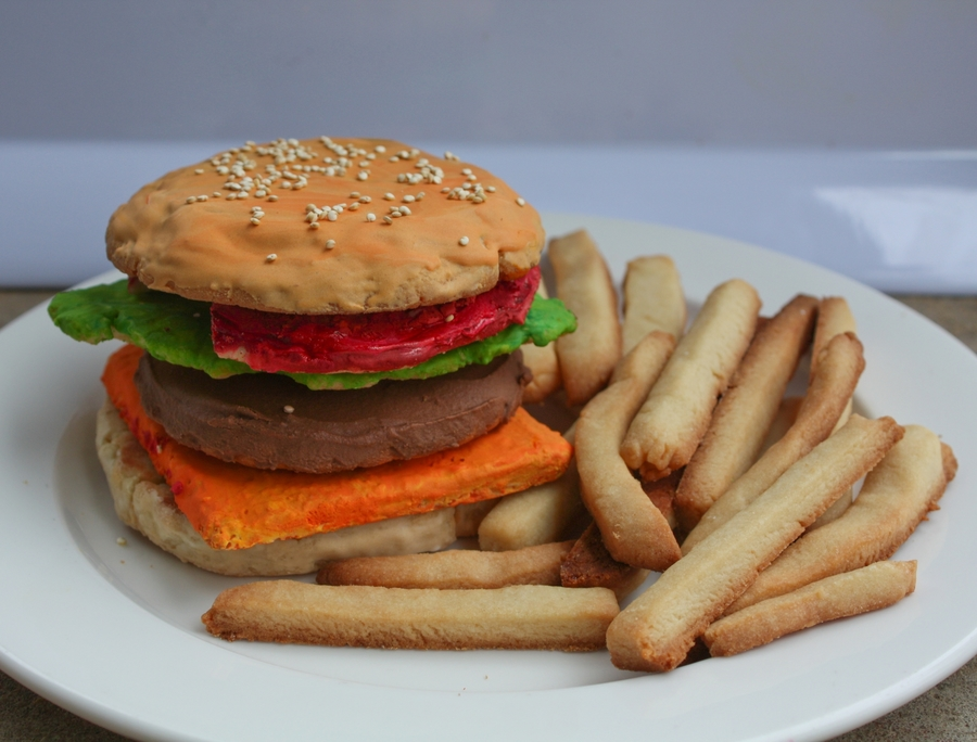 Cheeseburger And Fries Cookies on Cake Central