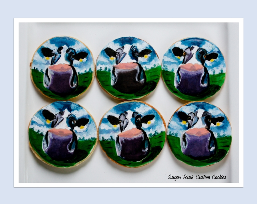 Cow Cookies  on Cake Central