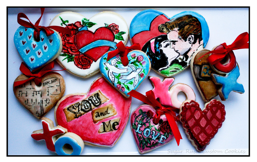 Valentines 2013 Cookies on Cake Central
