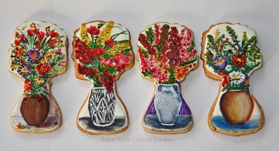 Flower Bouquet Vase Cookies on Cake Central
