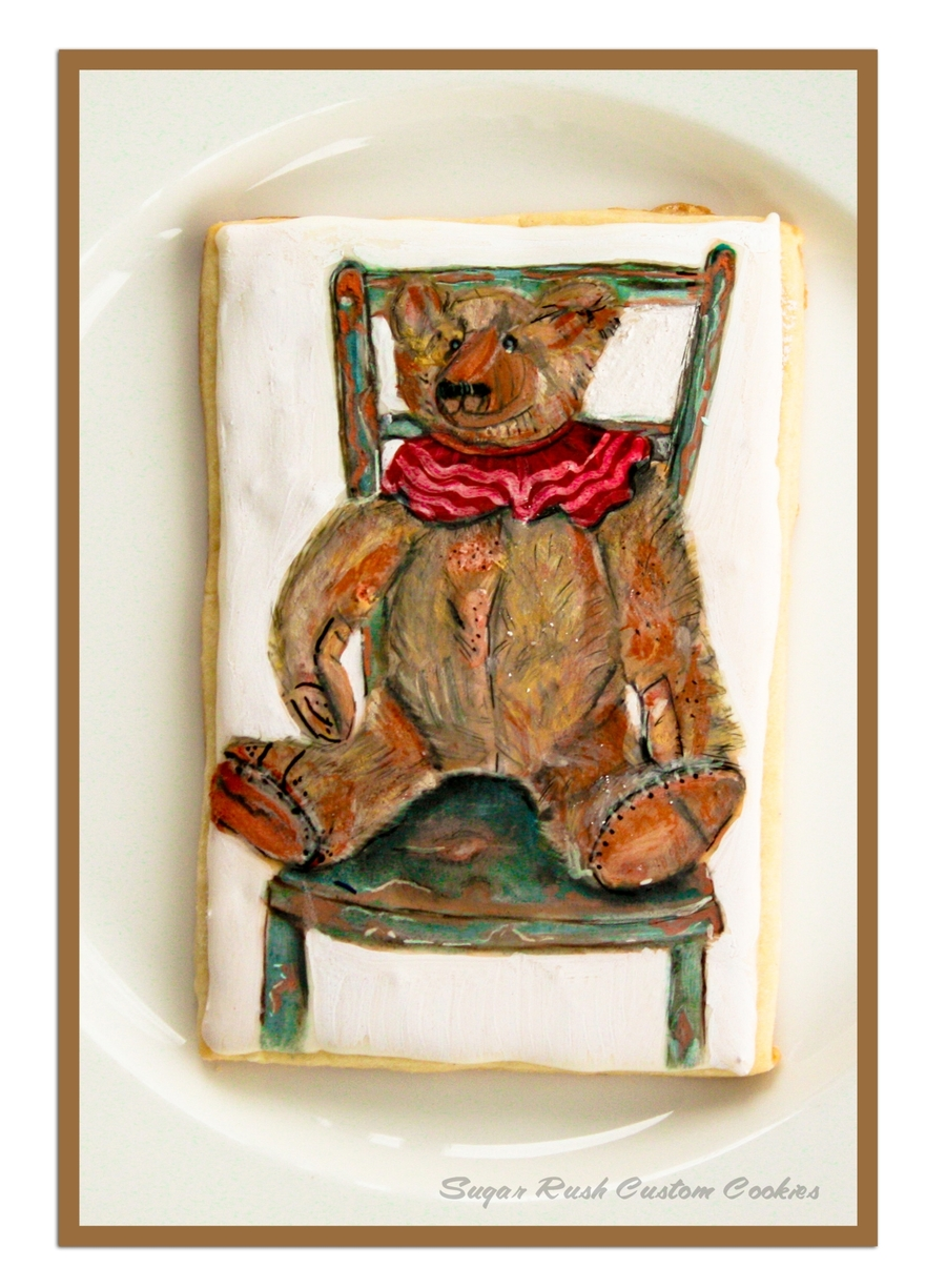 Vintage Teddy Bear Cookie on Cake Central