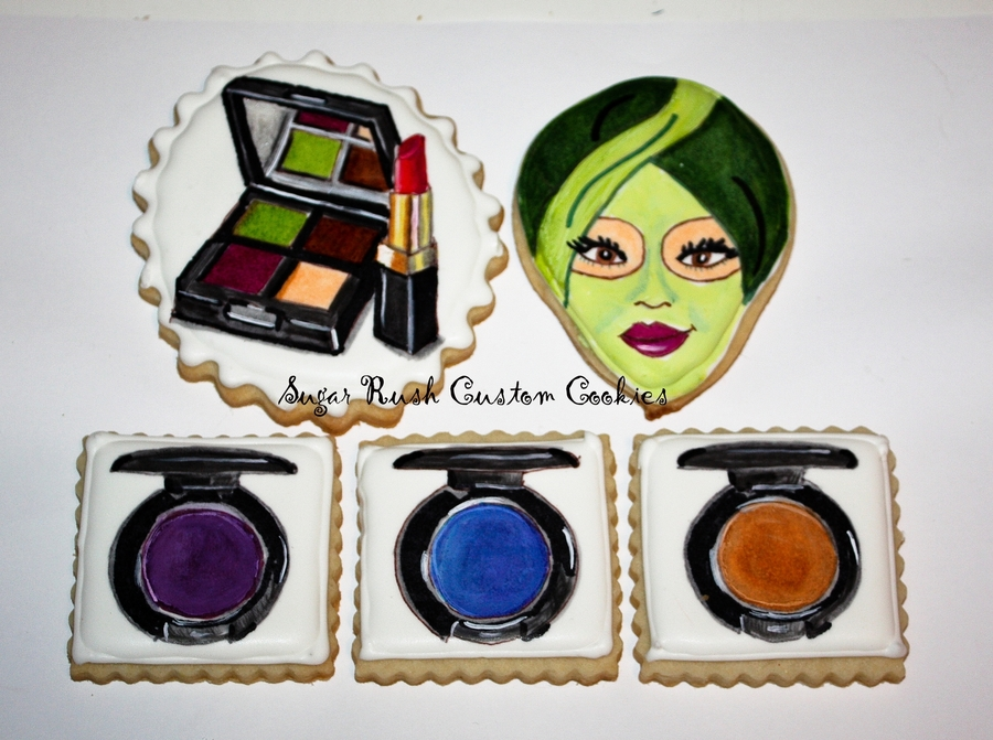 Day At The Spa Makeup Cookies on Cake Central